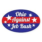 Ohio Against Jeb Bush Sticker