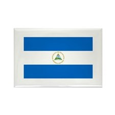 Nicaraguan Flag Rectangle Magnet