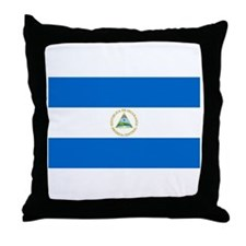 Nicaraguan Flag Throw Pillow