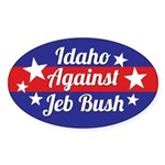 Idaho Against Jeb Bush Sticker