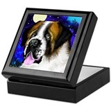 SAINT BERNARD DOG MOON Keepsake Box