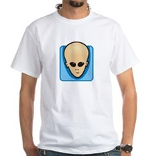 Simple Alien Head - Men's Shirt