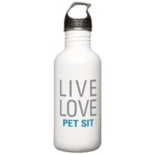 Live Love Pet Sit Water Bottle