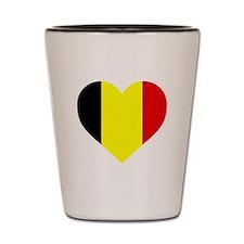 Belgium Heart Shot Glass