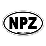 Naples, Florida NPZ Oval Decal