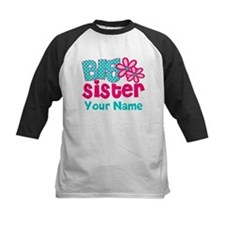 Big Sister Teal Pink Personalized Baseball Jersey
