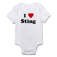 I Love Sting  Infant Bodysuit