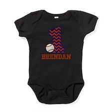 First Birthday Baseball Baby Bodysuit
