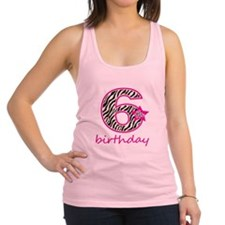 6th Birthday Racerback Tank Top