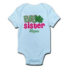 Big Sister Shamrock Personalized Body Suit