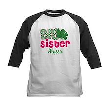 Big Sister Shamrock Personalized Baseball Jersey