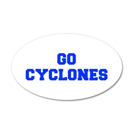 Cyclones-Fre blue Wall Decal