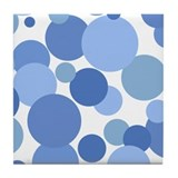 Blue Bubbles Tile Coaster