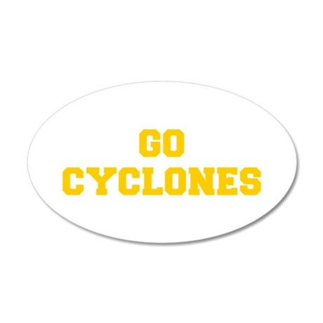 Cyclones-Fre yellow gold Wall Decal