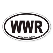 White Water Rafting WWR Euro Oval Decal