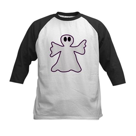 Halloween Ghost Kids Baseball Jersey
