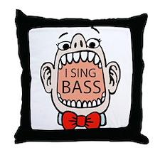 I Sing BASS Throw Pillow