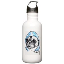 Timmy the Pampered Pug Water Bottle