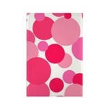 Pink Bubbles Rectangle Magnet