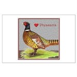 We Love Pheasants! Large Poster