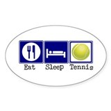 Eat, Sleep, Tennis Oval Decal