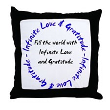Infinite Love & Gratitude Throw Pillow