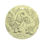 D'Anvers On Canvas Ornament (Round)