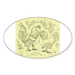 D'Anvers On Canvas Oval Sticker