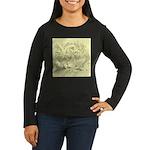 D'Anvers On Canvas Women's Long Sleeve Dark T-Shir