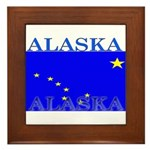 Alaska State Flag Framed Tile