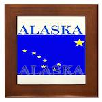 Alaska State Flag Framed Tile