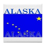 Alaska State Flag Tile Coaster