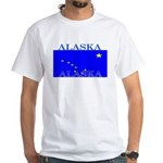 Alaska State Flag White T-Shirt