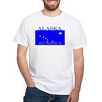 Alaska State Flag White T-Shirt