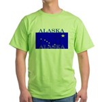 Alaska State Flag Green T-Shirt