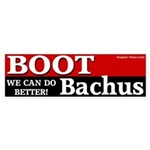 Boot Bachus Bumper Sticker