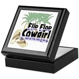 Flip Flop Cowgirl Keepsake Box