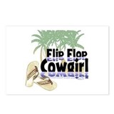 Flip Flop Cowgirl Postcards (Package of 8)