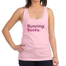 Running Sucks Pink Racerback Tank Top