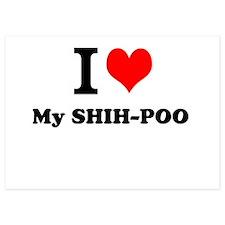 I Love My SHIH-POO Invitations