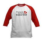 Everyone Loves a Cajun girl Kids Baseball Jersey