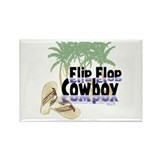 Flip Flop Cowboy Rectangle Magnet