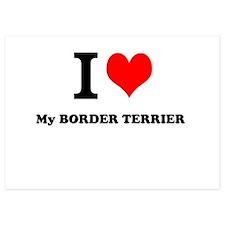 I Love My BORDER TERRIER Invitations