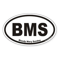 Bloody Mary Sunday BMS Euro Oval Decal