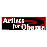 Artists for Obama bumper sticker
