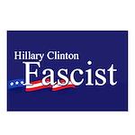 Clinton = Fascist Postcards (Package of 8)