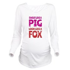 Sweat Like a Pig - L Long Sleeve Maternity T-Shirt