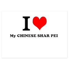 I Love My CHINESE SHAR PEI Invitations