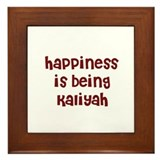 happiness is being Kaliyah Framed Tile