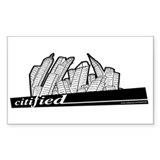 Citified... Rectangle Decal
